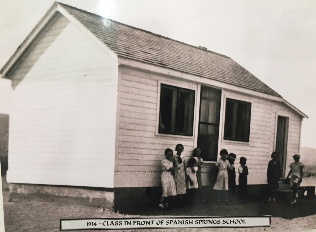 Spanish Springs School House 1934